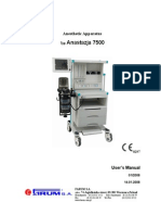 Aeonmed Aeon 7400 Anaesthesia Machine - User Manual