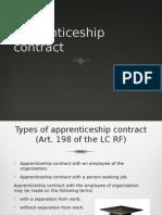 Apprenticeship Contract in Russia