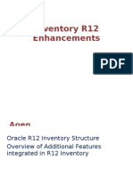 Oracle Inventory R12 Enhancements