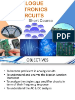 Analogue Electronics Circuits Part I