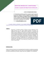 Análisis comparativo del Proceso Civil y Constitucional