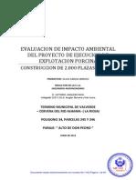 EVALUACION DE IMPACTO AMBIENTAL DEL PROYECTO DE EJECUCION DE EXPLOTACION PORCINA