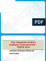 SLIDES Auditoria Governamental Grade do Master Concursos TCE CE 2015.ppt