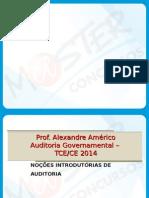 SLIDES Auditoria Governamental Grade do Master Concursos TCE CE 2015.ppt