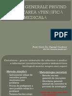 Curs 1_aspecte Generale Privind Cercetarea Stiintifică Medicala