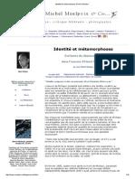 Identite Et Metamorphoses d'Henri Michaux