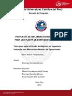 Flores Marco Propuesta Implementacion Mrp II Confecciones Textiles