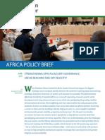 Strengthening Africa's Security Governance