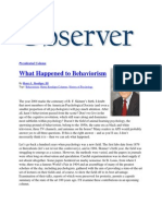 What Happened to Behaviorism (2004)