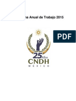 Programa Anual 2015 CNDH