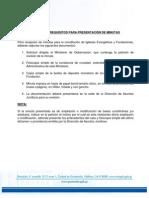 Requisitos Para Presentacion de Minutas para Asociaciones