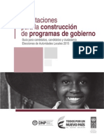 Cartilla Elaboracion Programas de Gobierno Undp -2015