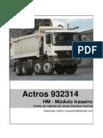 Actros 932314 HM - Módulo Traseiro