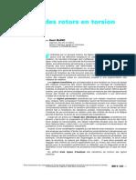Dynamique Des Rotors en Torsion-Introduction