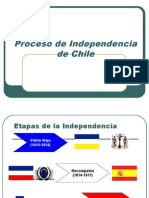 2. Etapas Del Proceso de Independencia de  chile