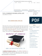 Commerce Degree After 12th _ B.com _ Bachelor of Commerce _ Careerafter12th