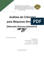 Analisis de Criticidad a un Alternador