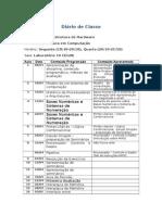 Diario Infra Estrutura de HW Turma LC1