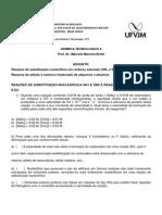 Atividade 8 - Reações de Substituição, Eliminação e Adição (1)