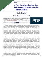 Algumas Particularidades Do Desenvolvimento Histórico Do Marxismo