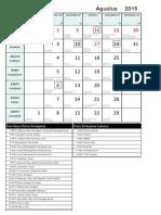 2015-08 Kalender Liturgi - Agustus