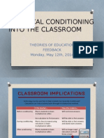 Classical Conditioning Into the Classroom-1