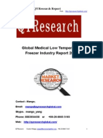 Global Medical Low Temperature Freezer Industry Report 2015.
