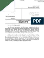 Webster v City of Bloomington 001 Plaintiffs Civil Cover Sheet
