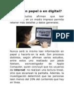 Leer en Papel o en Digital