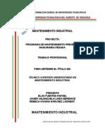 tesis para ingeniera en mantenimiento industrial