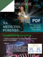 Variabilidade gentica na medicina forense.ppt