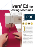 Drivers Ed for Sewing Machines