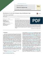 Remediation of Acid Mine Drainage Using Metallurgical Slags