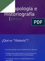 De Antropología e Historiografía