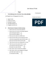 Past Perfect Tense Paper