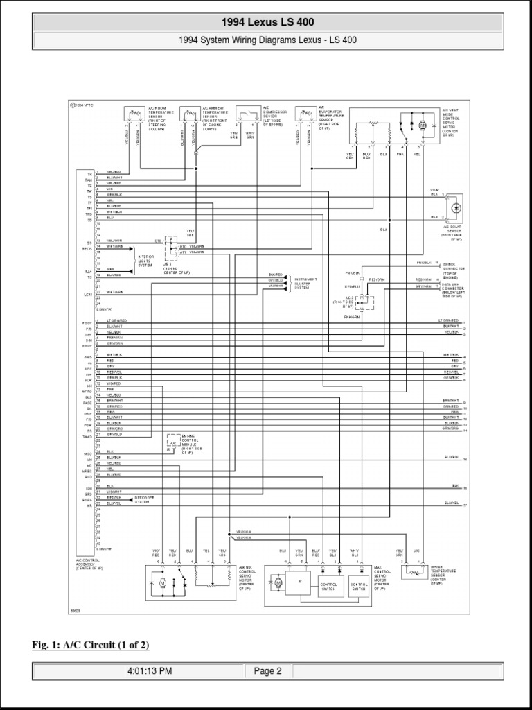 LS400 1994 Wiring | Lexus | Cars Of JapanScribd