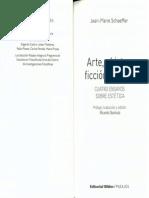 SCHAEFFER, Jean-Marie-Arte, Objetos, Ficcion, Cuerpo