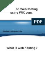 Tutorial on Webhosting using WIX.pptx