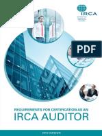 IRCA log sheet