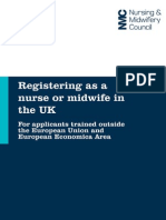 Registering as a Nurse or Midwife From Outside EU or EEA