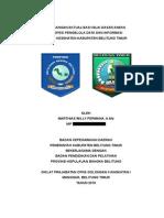 Rancangan Aktualisasi Nilai Dasar Profesi Pengelola Data dan Informasi