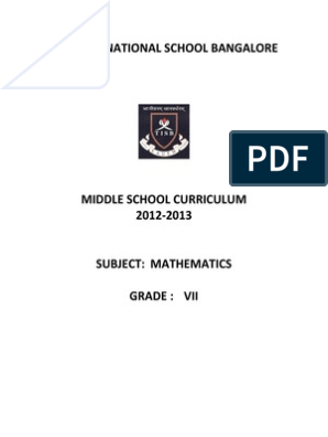 Grade 7 igcse maths syllabus pdf | Physics & Mathematics