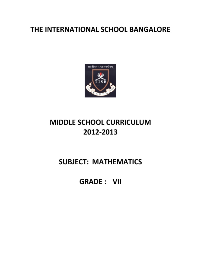 Grade 7 igcse maths syllabuspdf mathematics physics mathematics fandeluxe