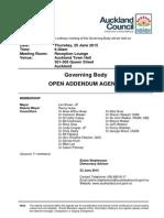 Governing Body Agenda June 2015 - Addendum Agenda