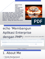 Membangun Applikasi enterprise dengan php