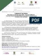Selectie Grup Tinta POSDRU - incluziune profesionala prin economia sociala
