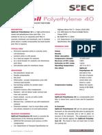 SpECcell Polyethylene 40 TDS4