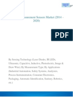 Distance Measurement Sensor Market is expected to reach $2.7 Billion by 2020