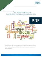 Sputtering Targets and Evaporation Materials Market (2014-2020)