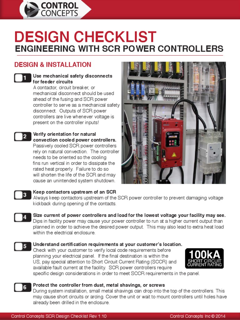 Control Concepts SCR Design Checklist Rev 1 10_0